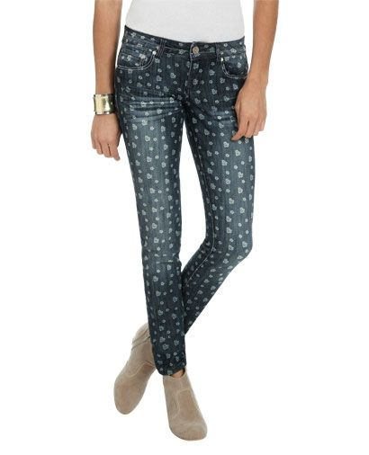 Ditsy Print Crop Skinny Jean from WetSeal.com