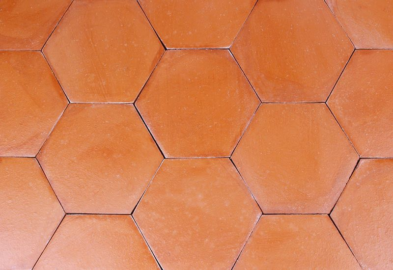 Tomette Hexagonale Rouge