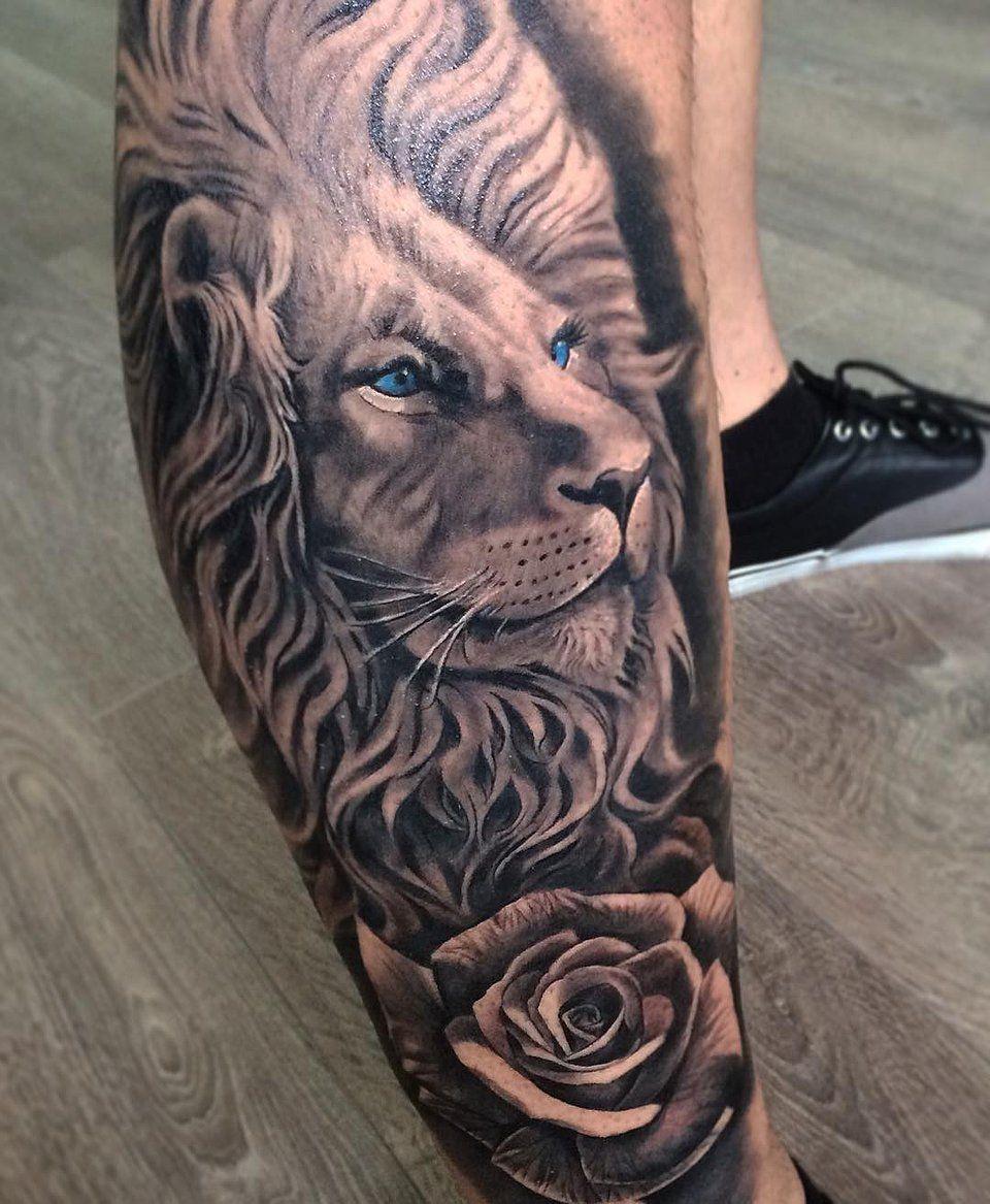 david gacia tattoo artist TATTOOS Lion tattoo, Tattoos