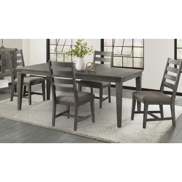 Padiham 5 Piece Extendable Solid Wood Dining Set Solid Wood Dining Set Solid Wood Table Tops Nook Dining Set