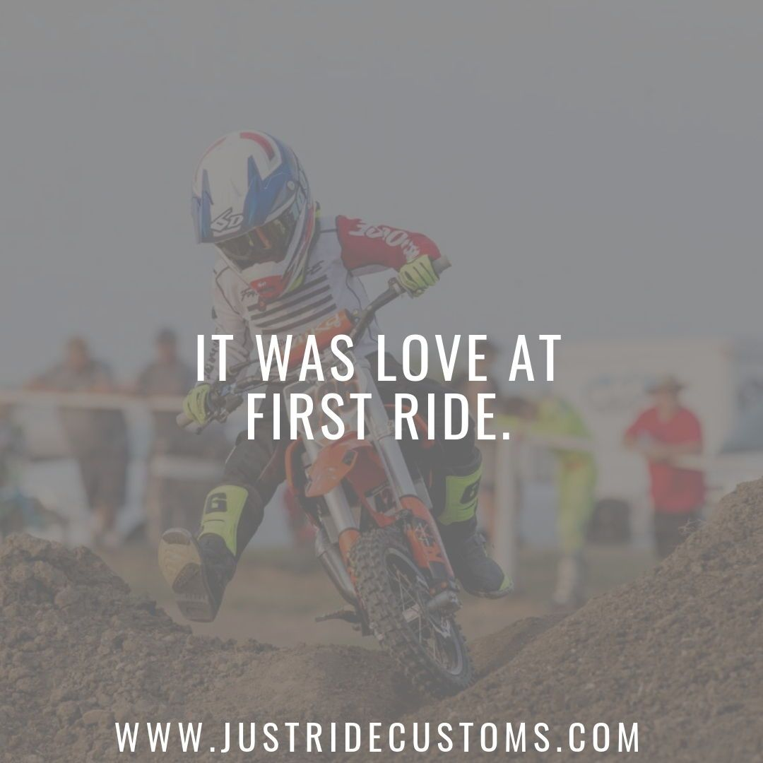 It Was Love At First Ride Dirt Bike Quote Motocross Saying Racing