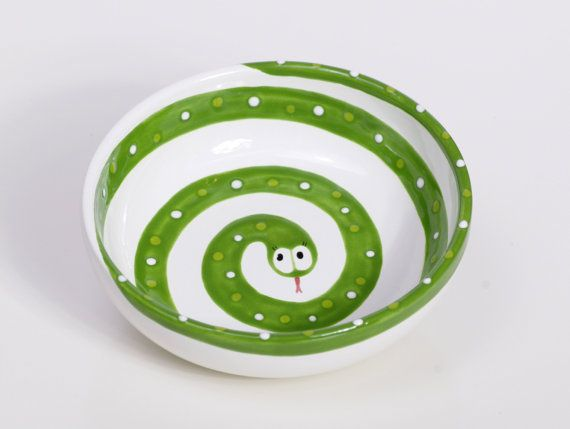 Kids Snake Bowl Food Dishwasher And Microwave Safe By Magicpots