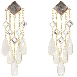 Pomegranate Multi Stone Statement Earrings