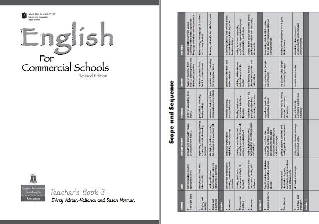 دليل المعلم للغة الانجليزية للصف الثالث الثانوى التجارى كامل Pdf للعام الجديد Teacher Books Education Center Education
