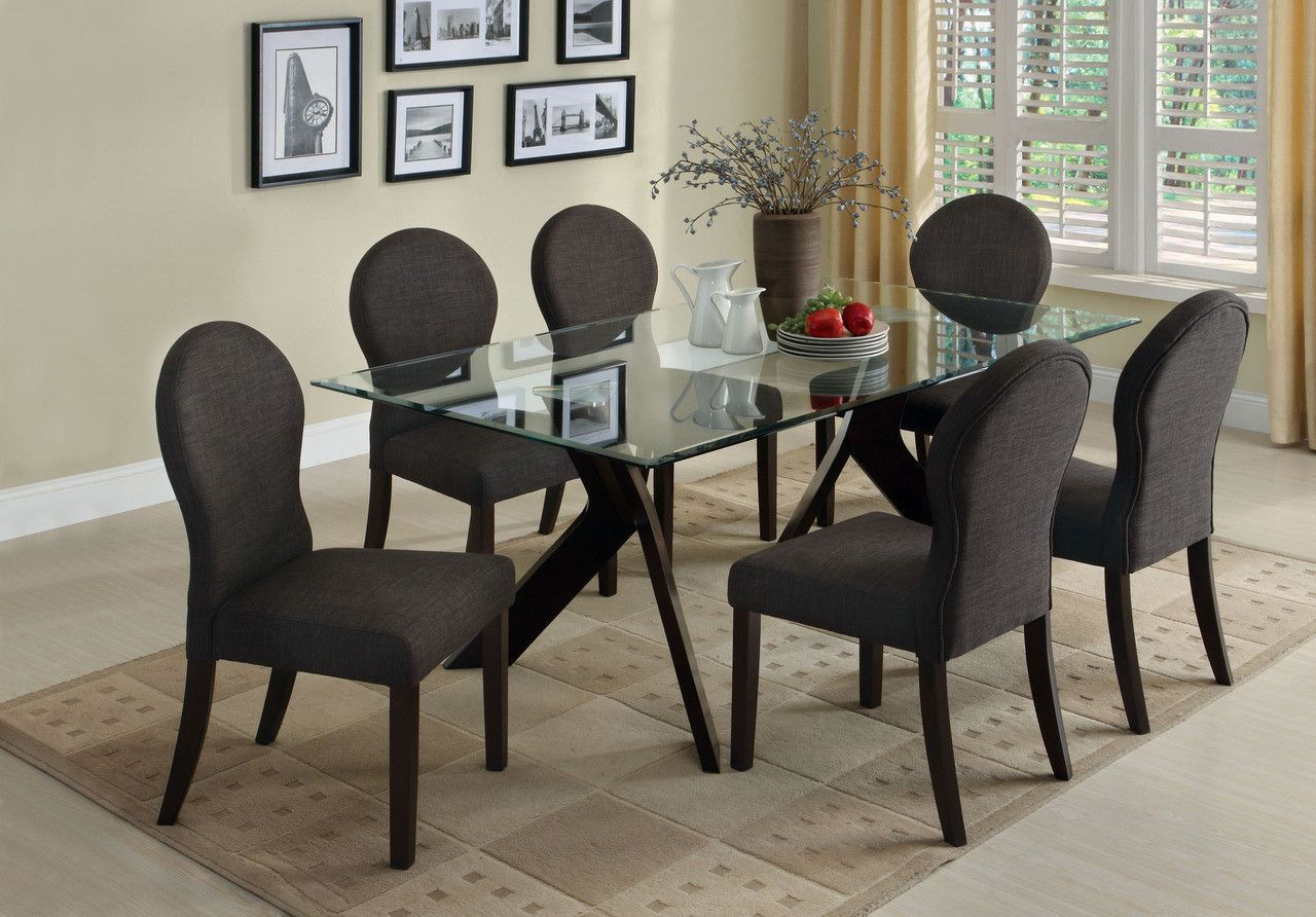 Dining Table With 6 Chairs 7 Pc