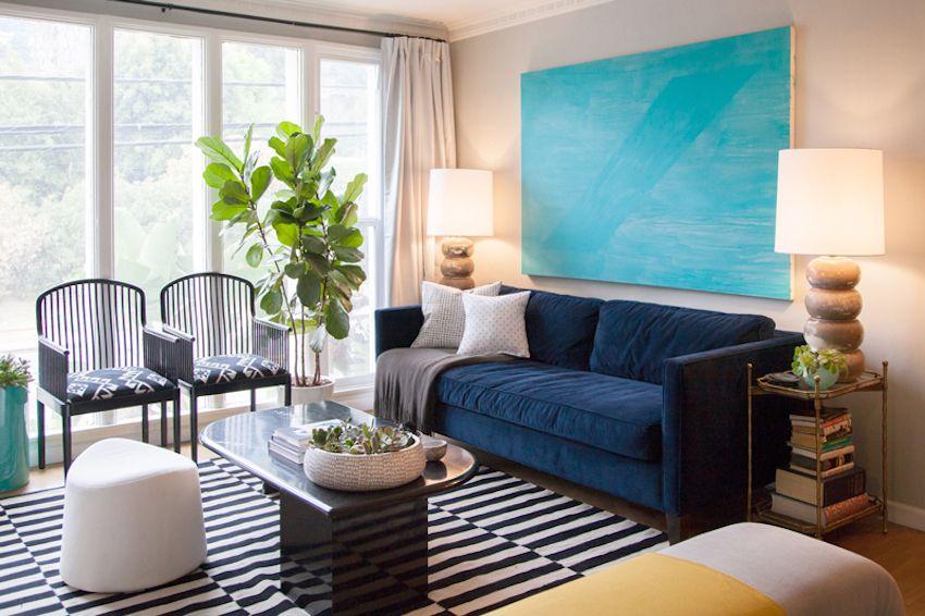 living room furniture budget%0A Room    DIY Ideas for Framing Big Art on a Small Budget