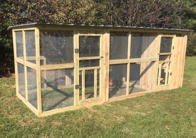 chicken coop 6 x 15 poultry house run roost animal nesting box rh pinterest com