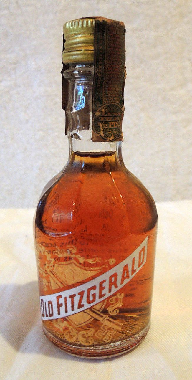 Old Fitzgerald Miniature Liquor Bottle Mini 1957 Vintage Whiskey Bottle With Seal Whiskey Bottle Liquor Bottles Tea Bottle