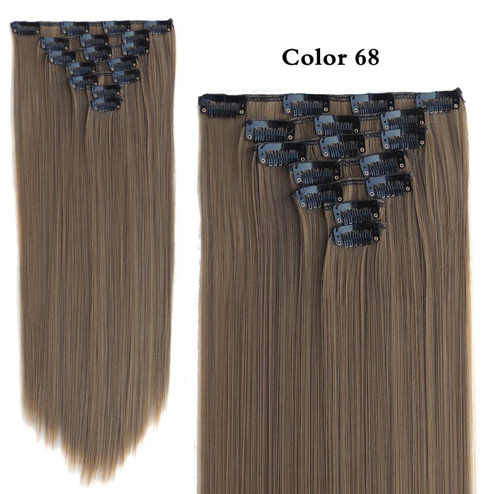 Clip on hair extension aplique de cabelo tinta de cabelo sintetico