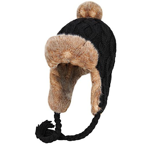 3ffacf79bab22 New OMECHY Womens Knit Peruvian Beanie Hat Winter Warm Wool Crochet Tassel  Peru Ski Hat Cap