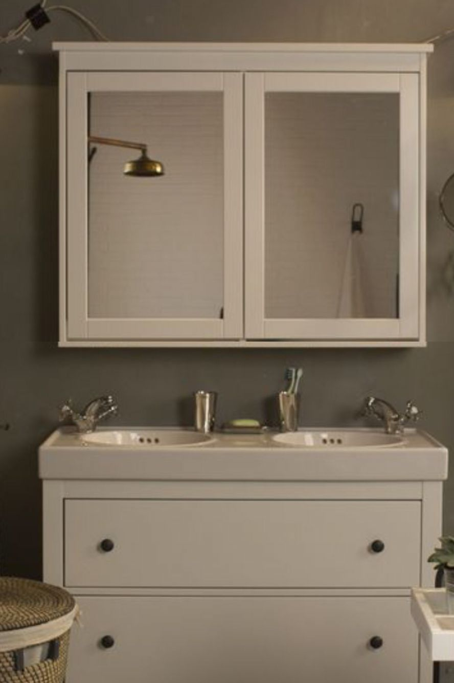 Altered Ikea Hemnes Bathroom Cabinet.