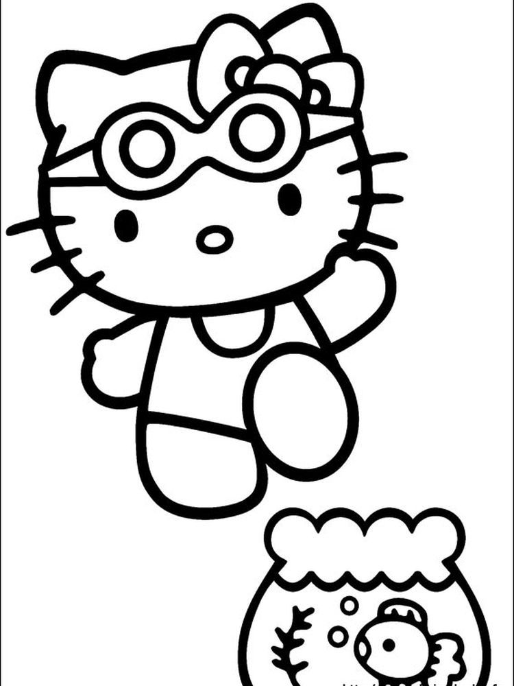 Hello Kitty Cooking Coloring Pages When We First Heard Hello Kitty The First One That Oc Hello Kitty Colouring Pages Hello Kitty Drawing Hello Kitty Coloring