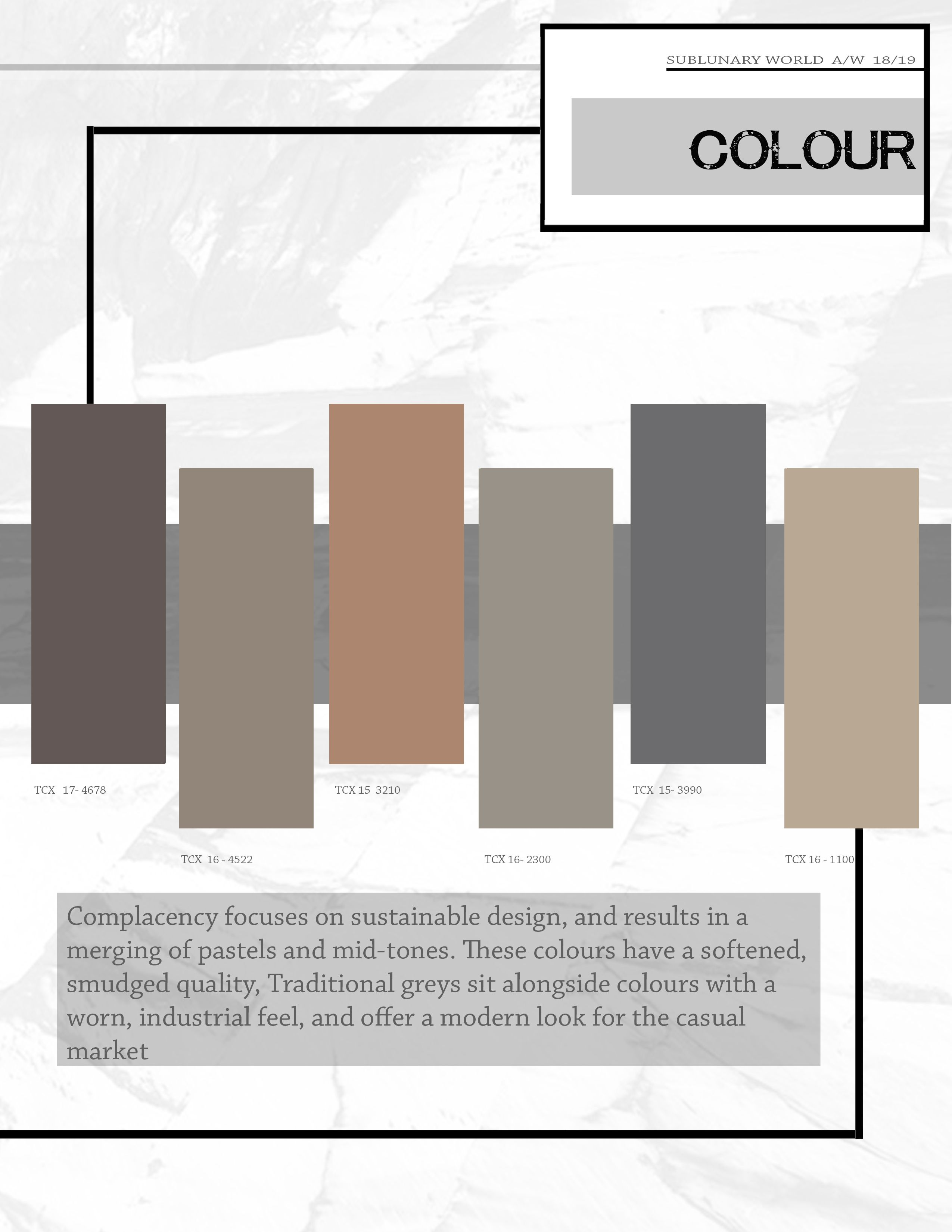 The trend book focuses of the trend forecasting for Autumn ... - Couleur Tendance 2018