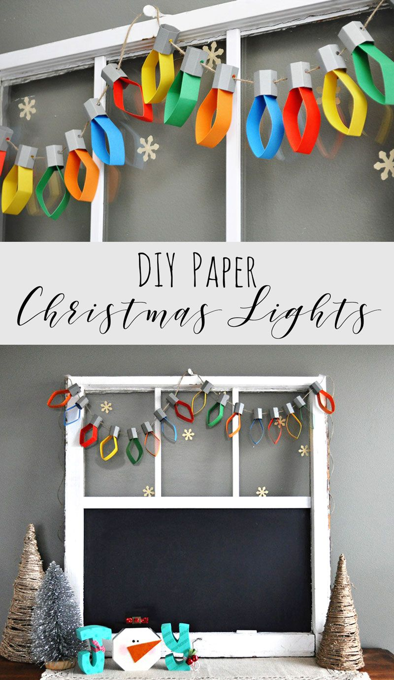 Christmas Lights Paper Garland Handmade christmas