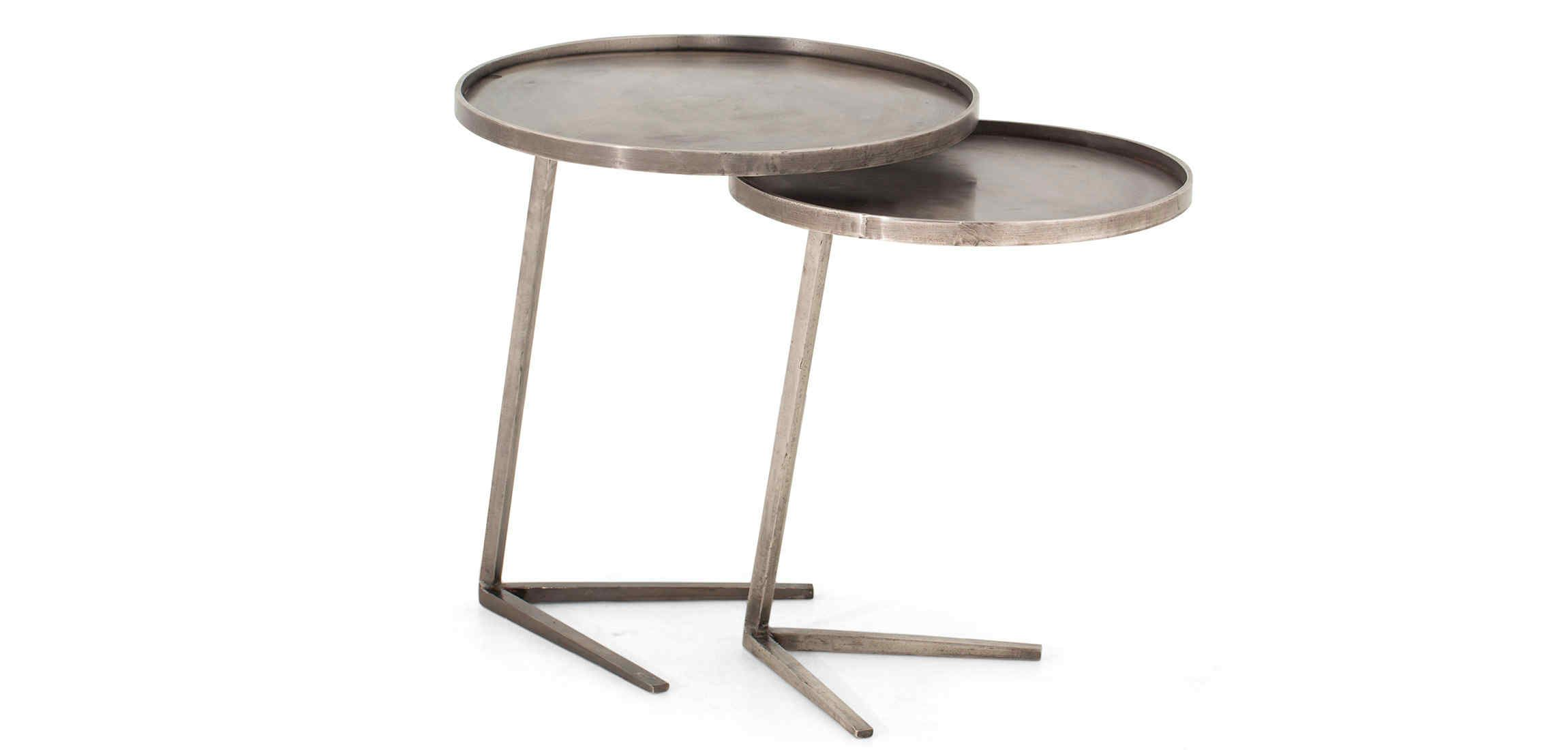 Agos Side Table Iron Set Of 2 Flamant Side Table Table Iron [ 1100 x 2300 Pixel ]