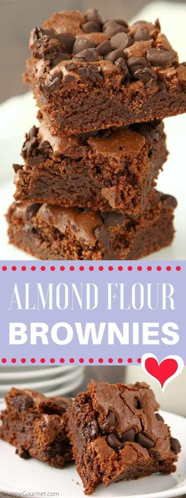 Receta de brownies de harina de almendras – brownies caseros faciles de hacer fudgy sin gluten -