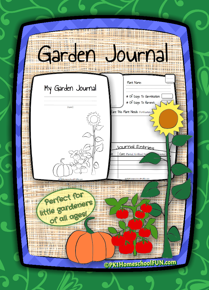 Free Printable Gardening Journal for Kids Activities