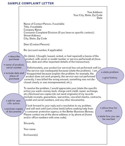 Wall Street Engish How to write a letter of complaint Wall - sample consumer complaint form
