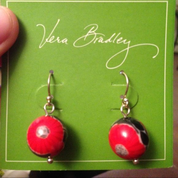 vera bradley earrings nwt sensitive ears vera bradley and