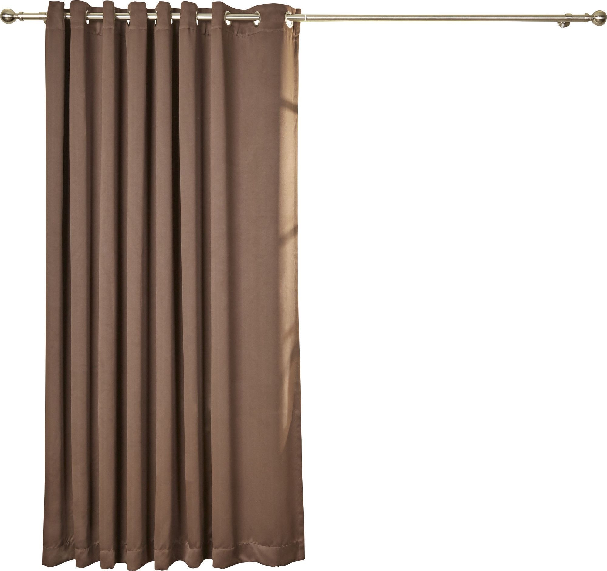 Basics Solid Blackout Grommet Single Patio Curtain Panel Panel
