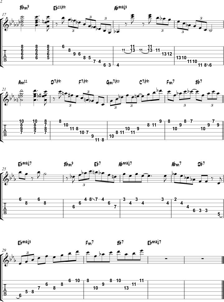 Misty arpeggio study page 2   Guitar   Pinterest   Guitars, Jazz and ...
