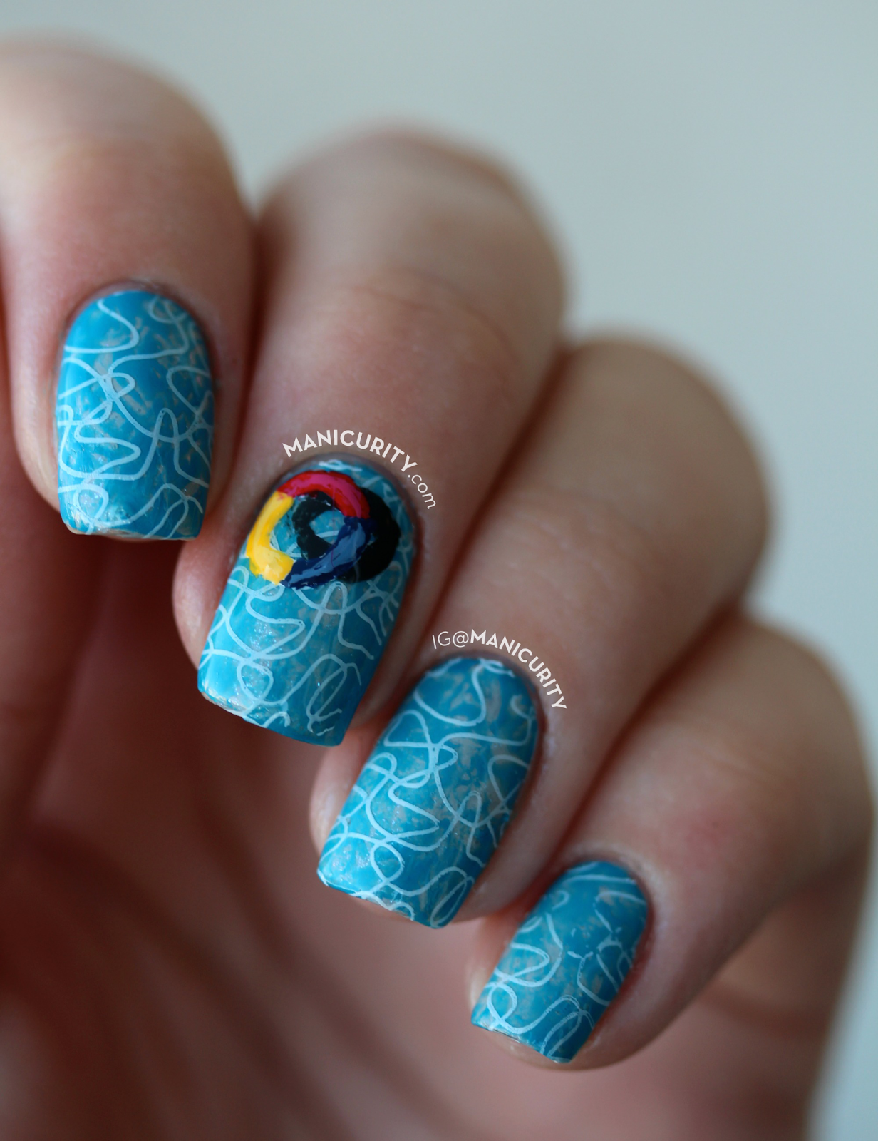 The Digit Al Dozen Does Summer Swimming Pool Nail Art Using The