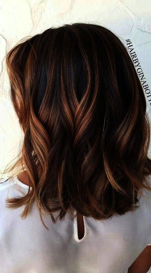 Brown Hair Color Ideas to Try Right Now  Wass Sellbrown35 Short Chocolate Brown Hair Color Ideas to Try Right Now  Wass Sellbrown 1 Part hair at the center of the back of...