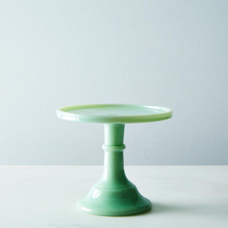 Jadeite glass cake stand glass cake plate glass cake
