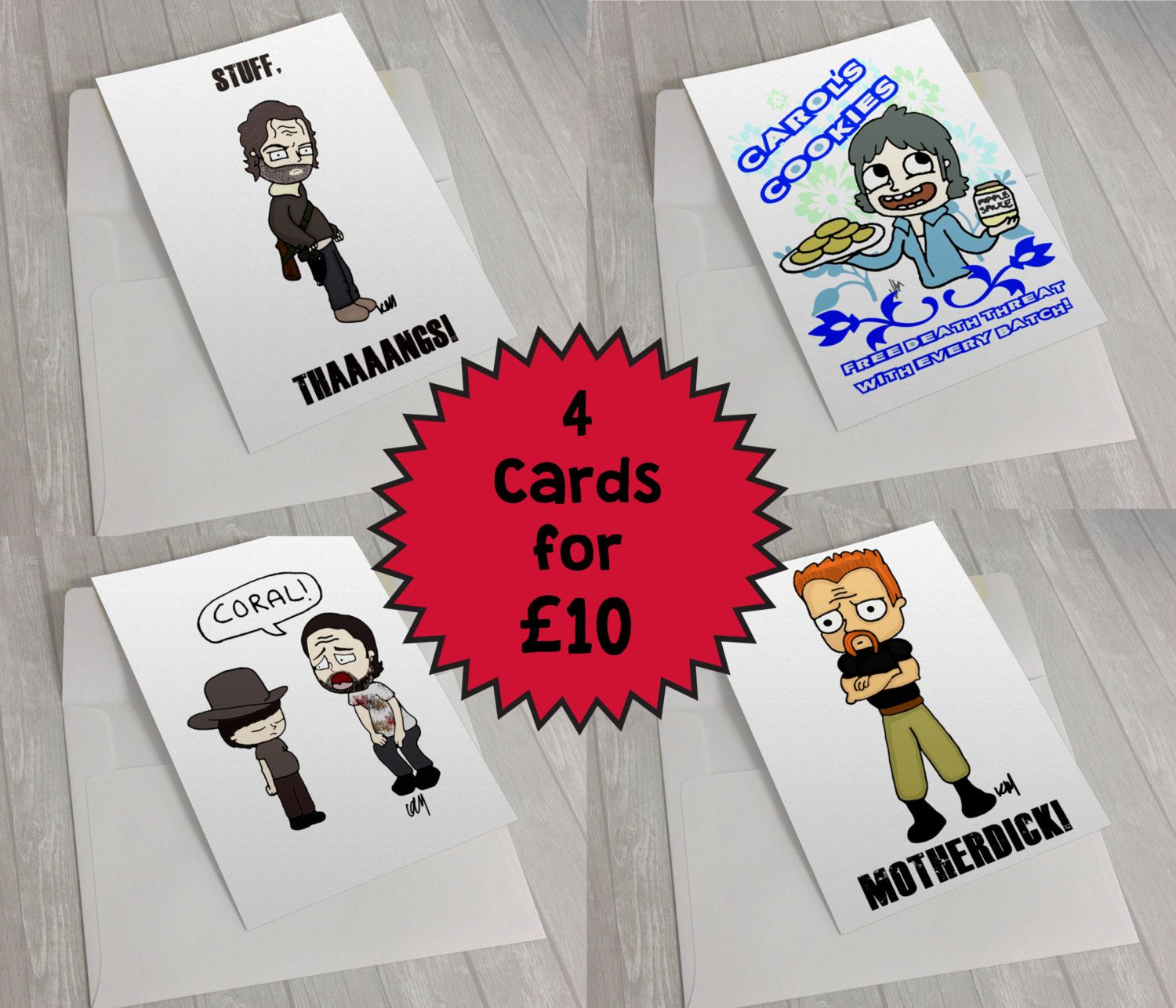 New To Kaylieghkartoons On Etsy The Walking Dead Coral Rick Grimes