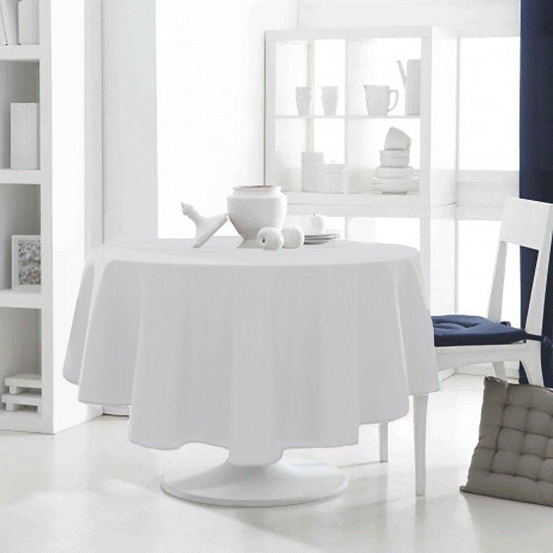 Nappe Ronde Design Actuel 180cm Chantilly Antitache Infroissable Nappe Ronde Nappe Table Ronde Nappe