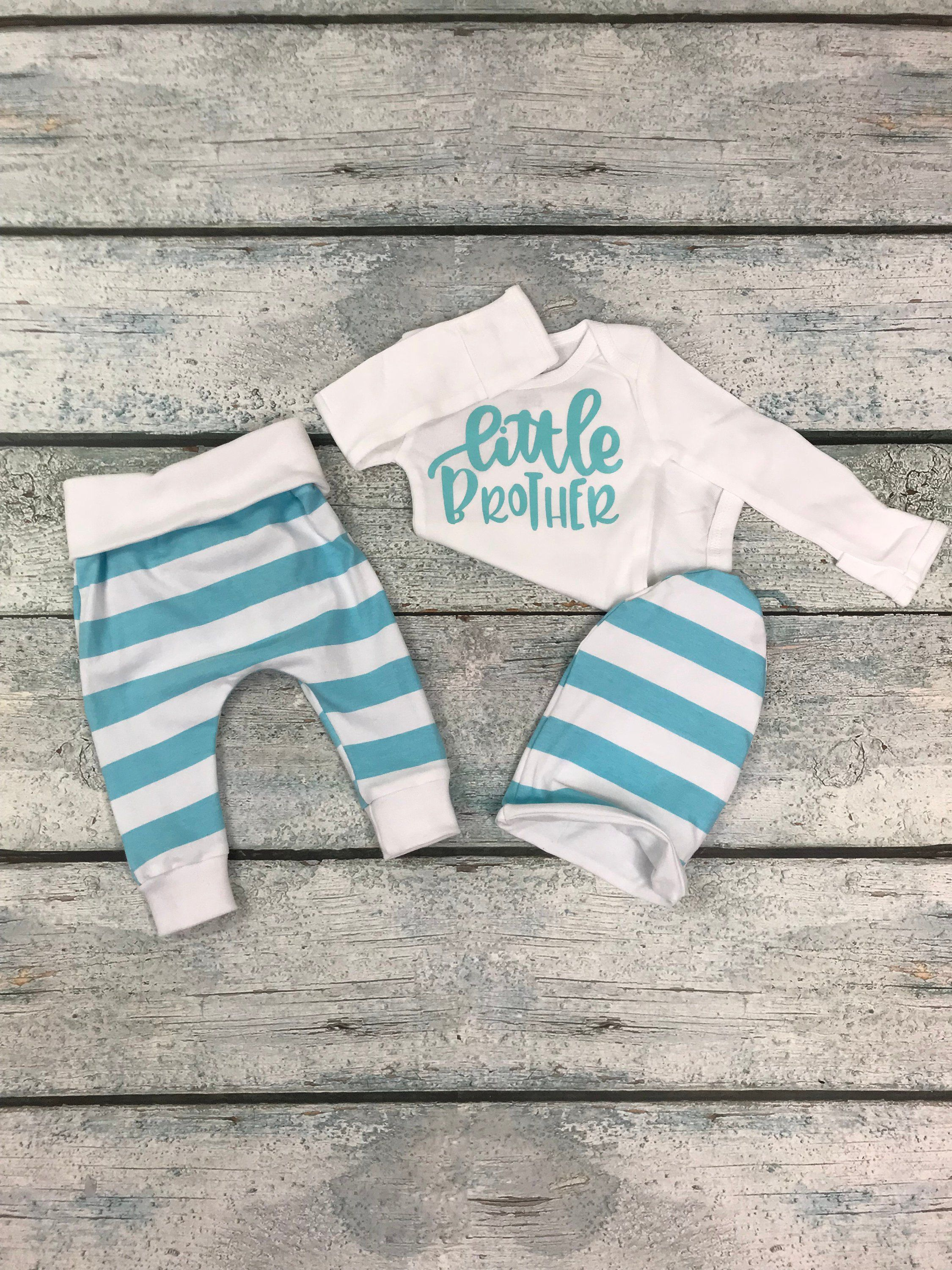 9dacb3445 newborn baby boy coming home outfit/little brother newborn outfit/take home  set/little brother set by bibitibobitiboutique on Etsy
