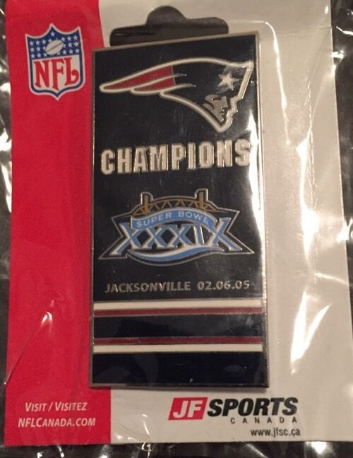 #NFL New England #Patriots Superbowl Champs Pin Badge Lapel New Jf Sports 2005 from $4.99