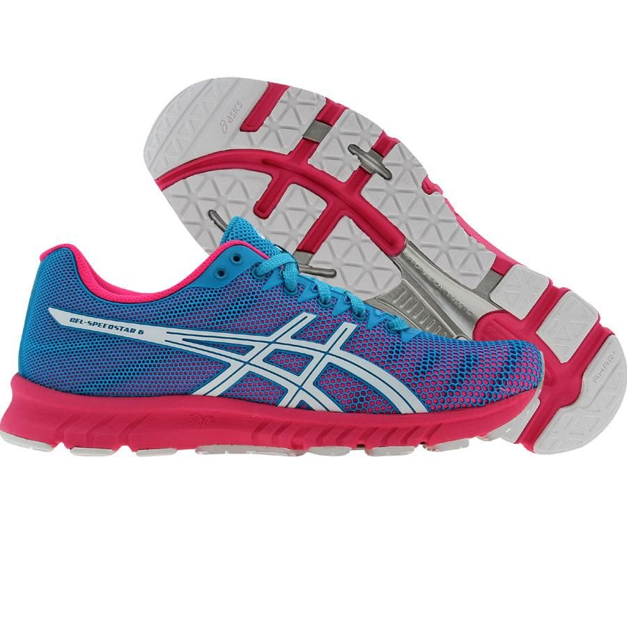 Asics Womens Gel-Speedstar 6 (electric blue / white / neon pink) T263N