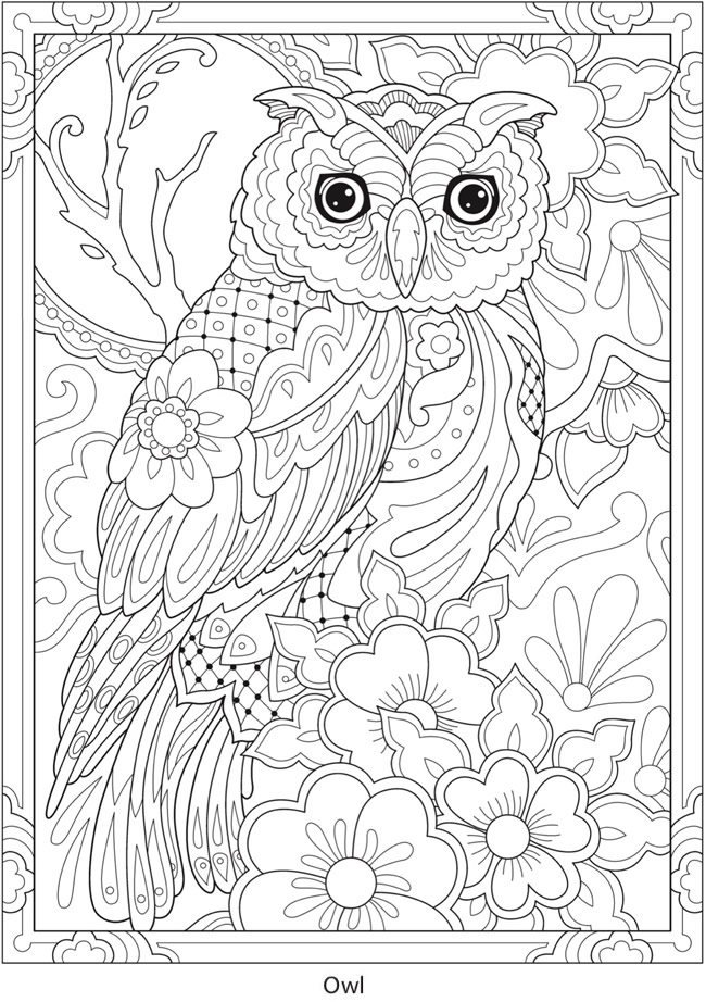 Welcome To Dover Publications Ch Festive Mexican Talavera Designs Owl Coloring Pages Mandala Coloring Pages Bird Coloring Pages