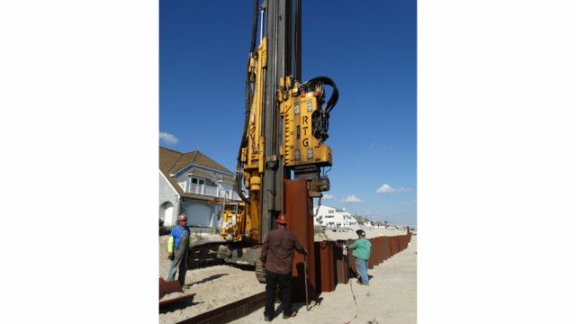 The challenge: Installing over 3 5 miles of steel sheet pile