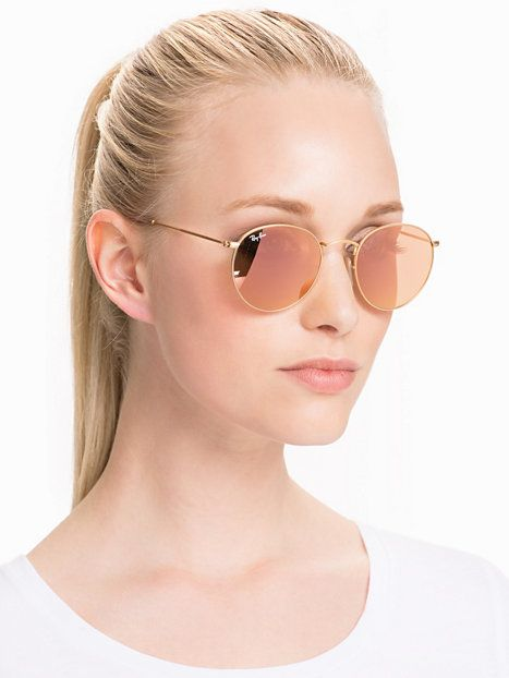 ray ban sonnenbrille round metal rose