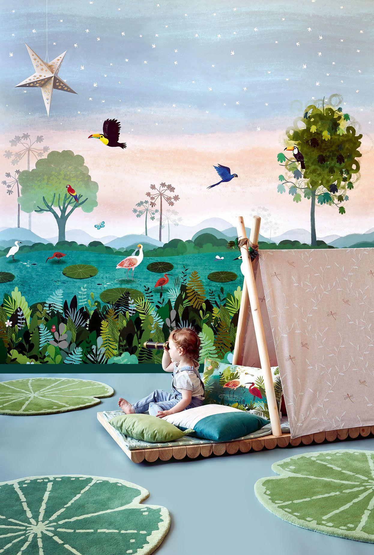 Carta da parati per bambini giungla Carta da parati per