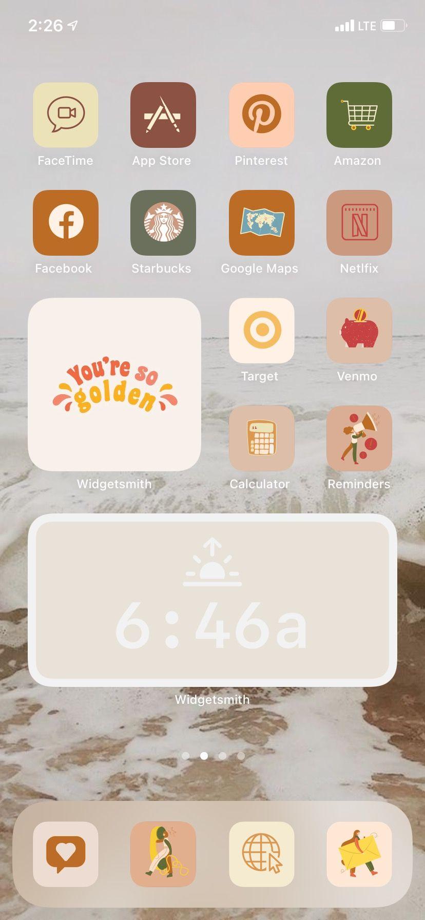 Boho Aesthetic Iphone App Icons Boho Ios 14 App Icon Pack Etsy In 2021 Iphone Wallpaper App Homescreen Homescreen Iphone