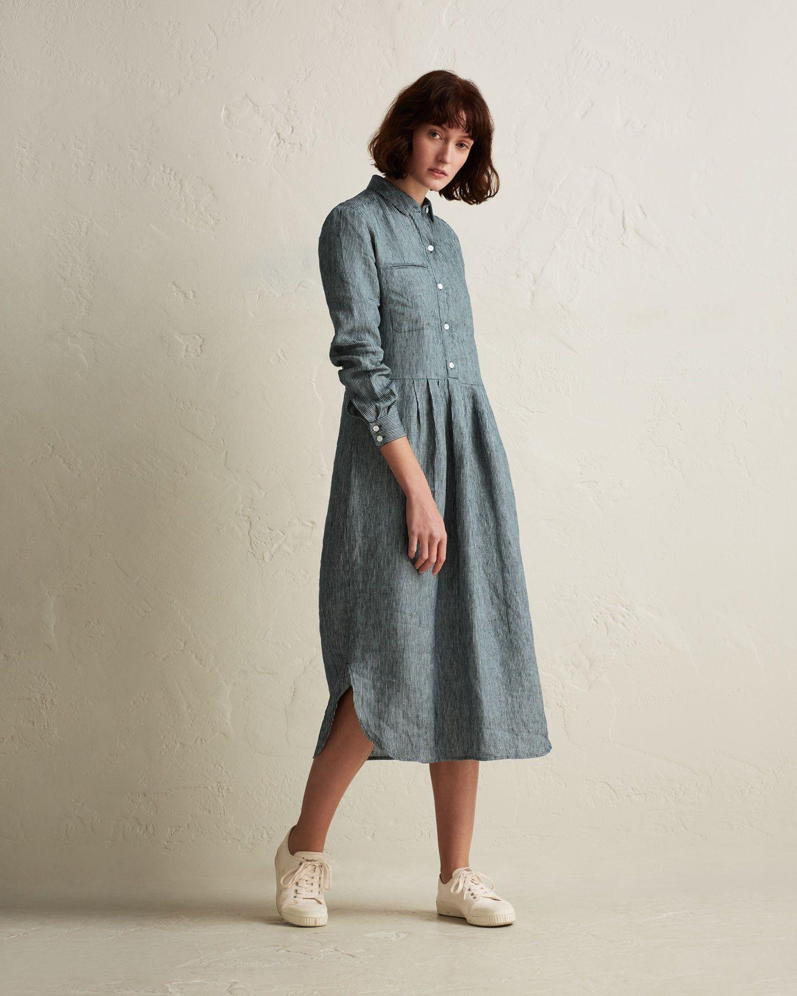 5b62b9ff17dea Shirt dress in a supple