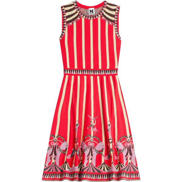 M Missoni Cotton-Blend Circus Print Dress found on Polyvore featuring  dresses, missoni,