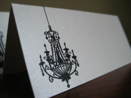 Chandelier Escort Seating Place Card