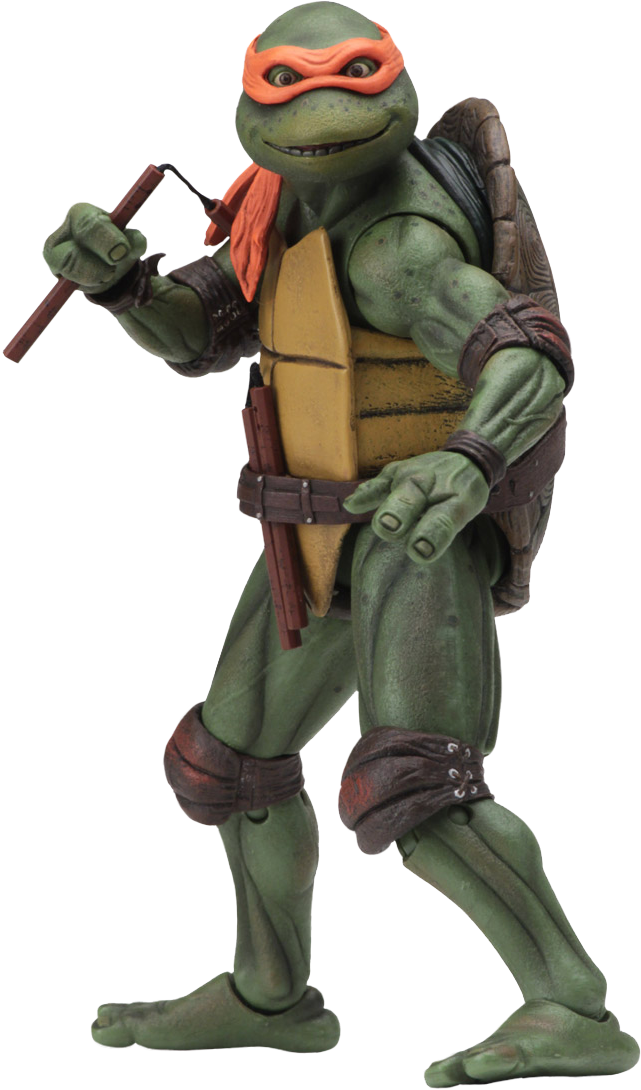 Teenage Mutant Ninja Turtles 1990 Michelangelo 7 Action Figur Teenage Mutant Ninja Turtles Teenage Mutant Ninja Turtles Movie Ninja Turtles Action Figures