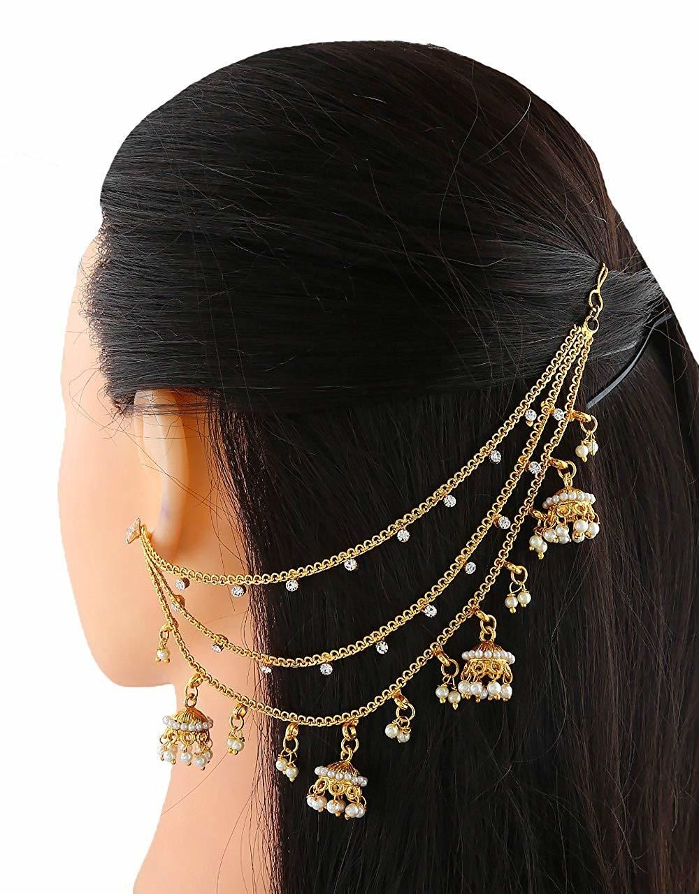 09647ee9e Buy Floral Design Gold Finish Traditional Earring For Wedding Online   Anuradha  Art Jewellery