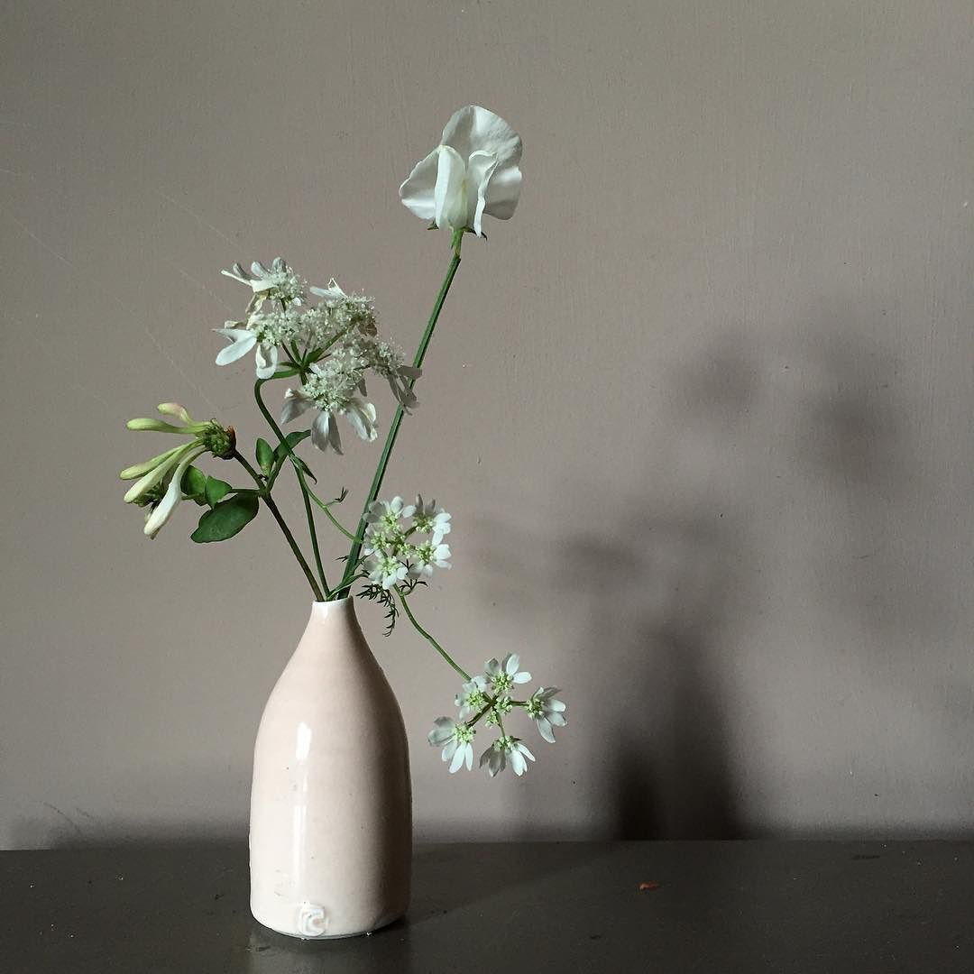 Sometimes it just has to be a favourite vase and three stems. Oh and our huge announcement this aft  ...