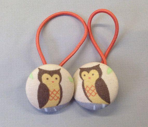 1 1/8 Size 45 Brown/Khaki/Tan/Orange/Grey Owl on Tree by RatDogInk, $6.00