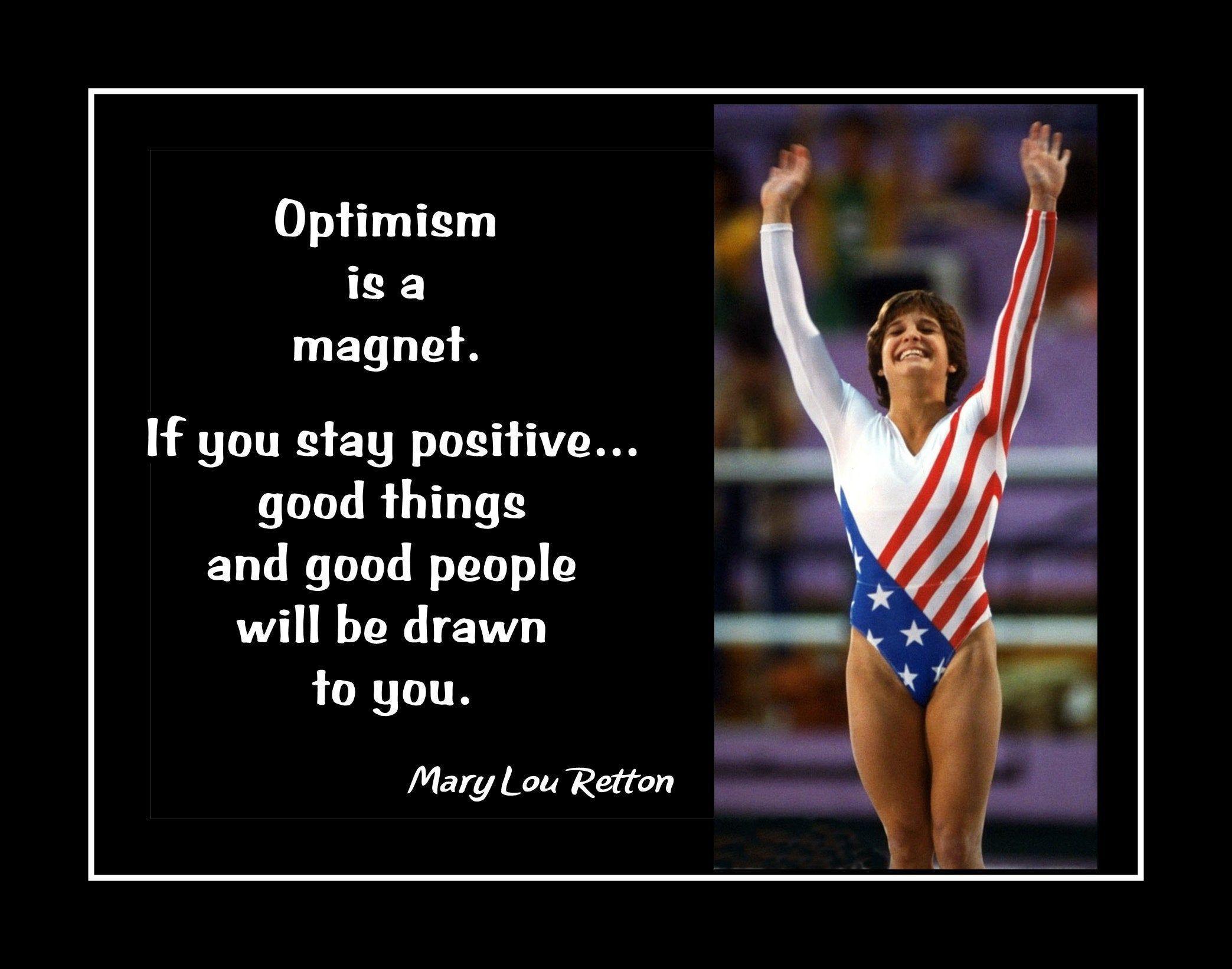Mary Lou Retton Gymnastics Inspirational Quote Wall Art