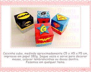 Caixa Cubo Heróis