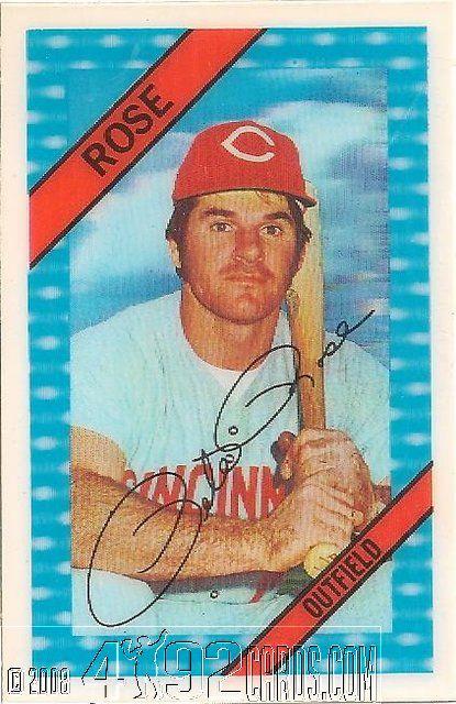 Pete Rose 1972 Kelloggs 3d Baseball Cards Reds
