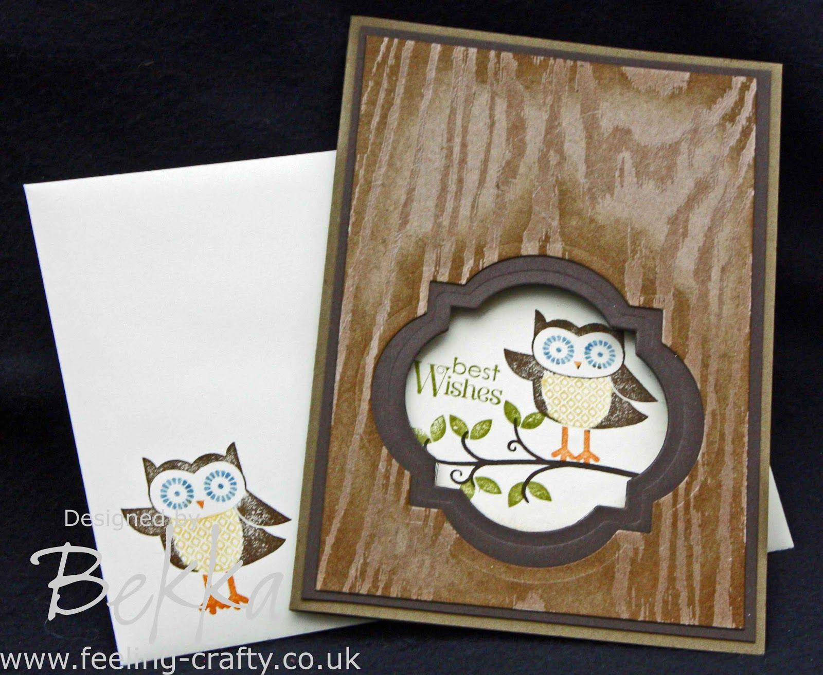 Card Making Class Ideas Part - 50: Cute Owl Best Wishes Card By Bekka Using Stampinu0027 Up!u0027s Owl Occasions