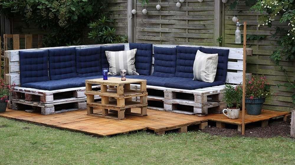 Carr De Jardin En Palette. Cheap Table Basse Blanche Carree Design ...